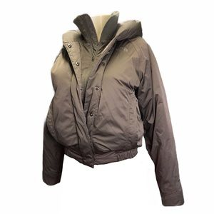 The North Face Olive Green Down Puffer Coat Small